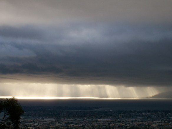 Winter Solstice Rain Over San Francisco Bay