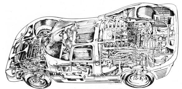 Ferrari P4 (bw)