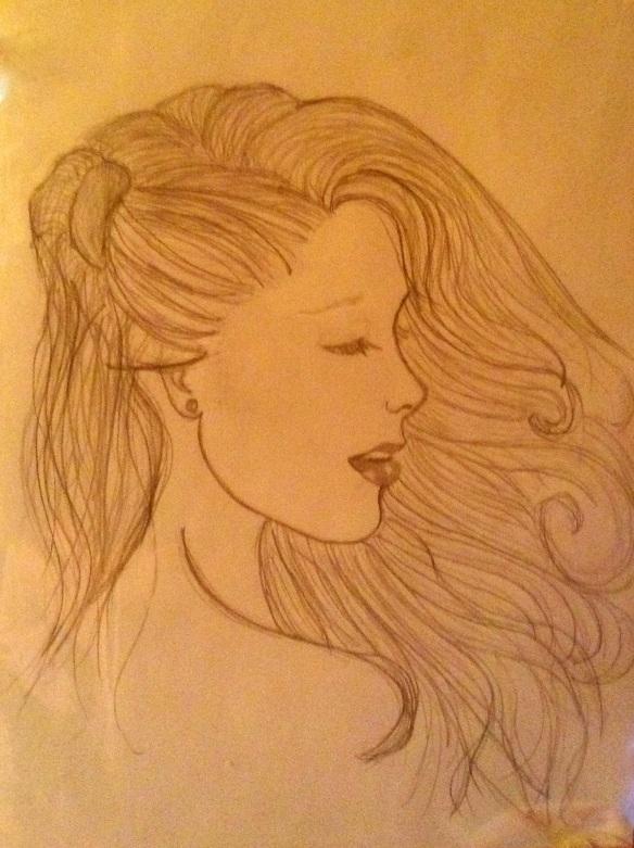 Young Woman, Windblown